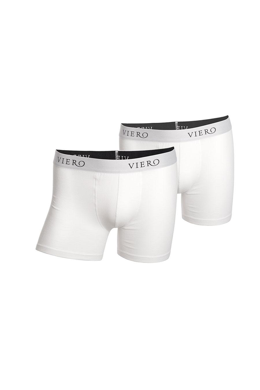 2-pack hvite boxershortser fra Viero Milano
