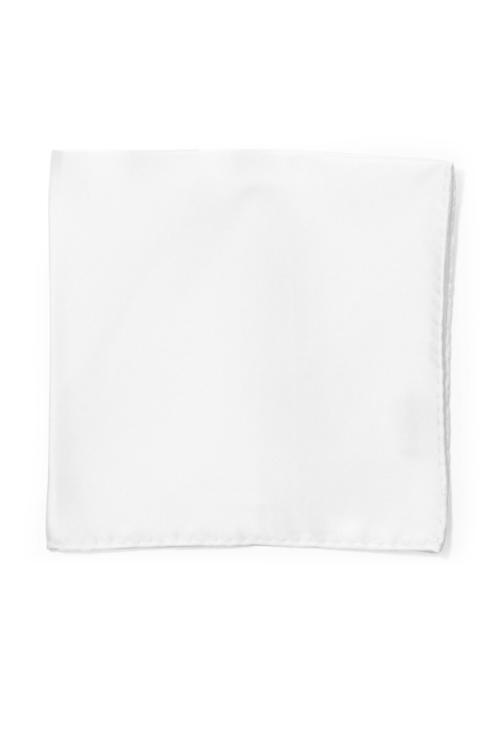 Hvitt lommetørkle i silke.