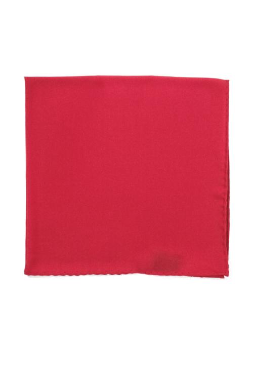 Rødt lommetørkle i silke