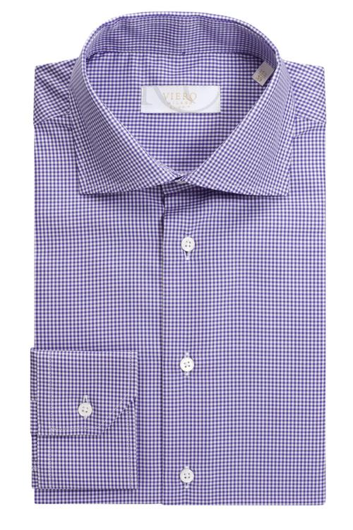 Hvit og lilla skjorte fra Viero Milano