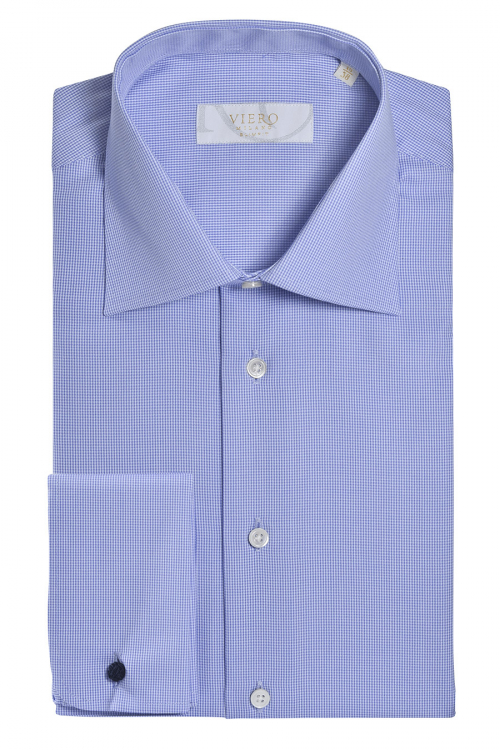 Viero Milano skjorte i micro gingham.