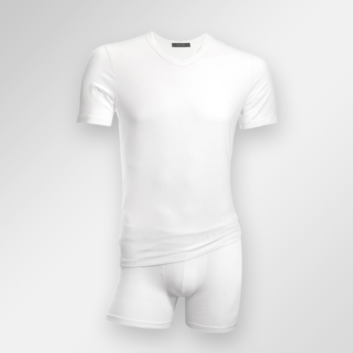 Hvite t-skjorter i modal