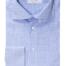 Lyseblå skjorte med dobbel mansjett