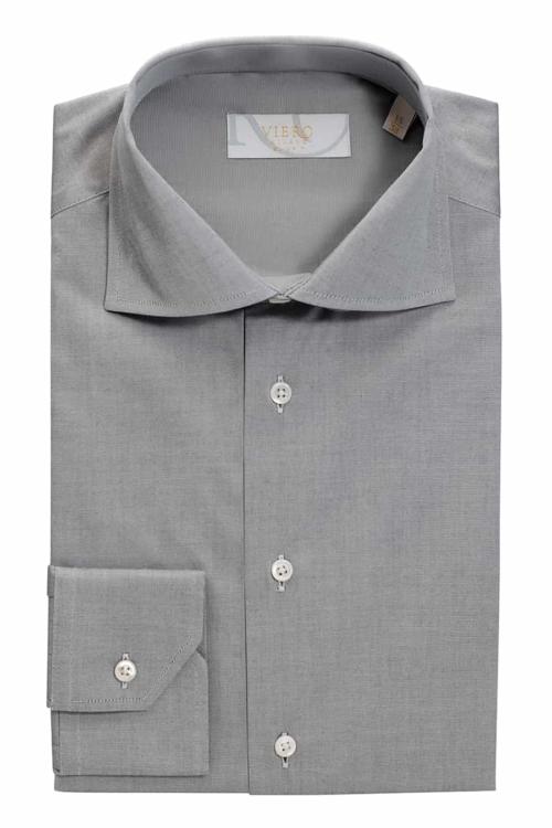 Viero Milano skjorte grå ensfarget