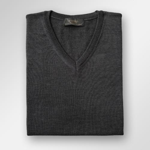 Koksgrå merinoull genser fra Viero Milano