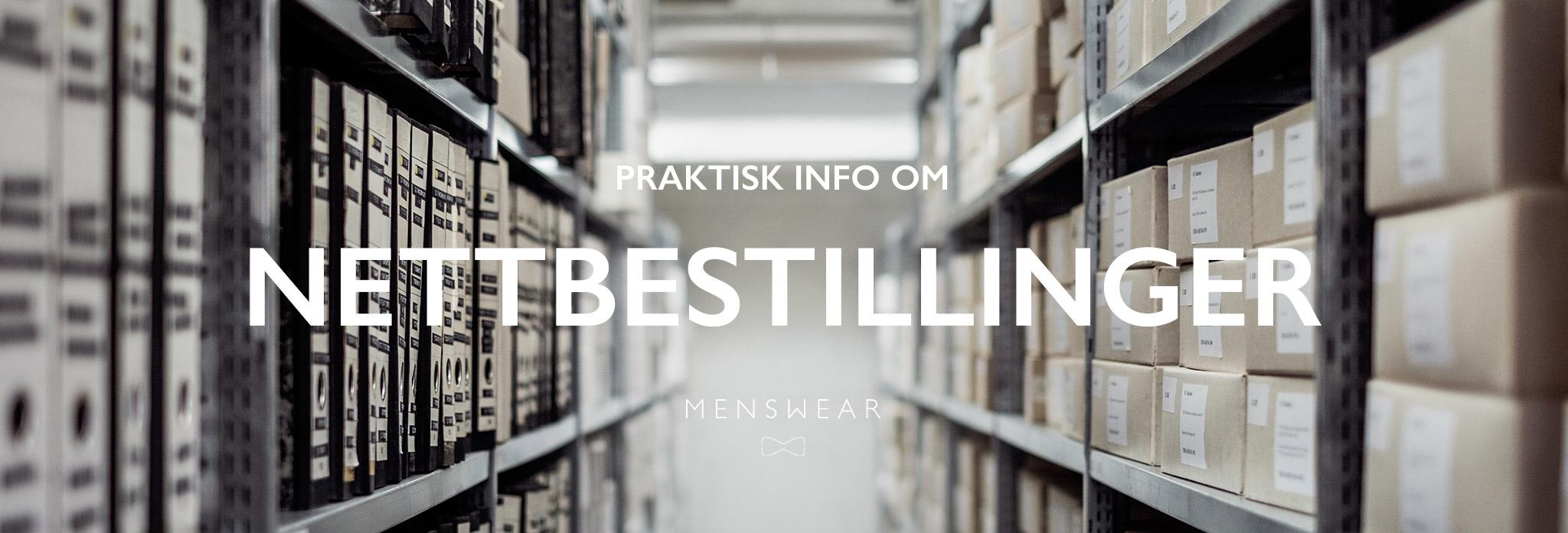 Info om nettbestillinger fra Menswear