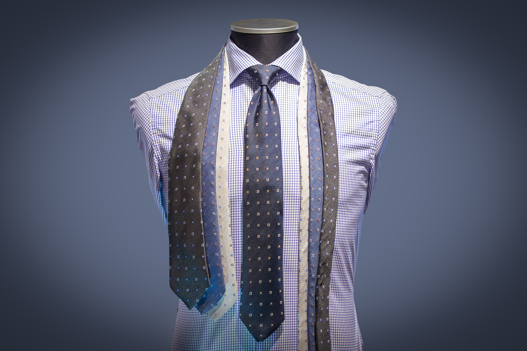 Hvit skjorte med slips svart | Pascal | Skjorter | Miinto.no
