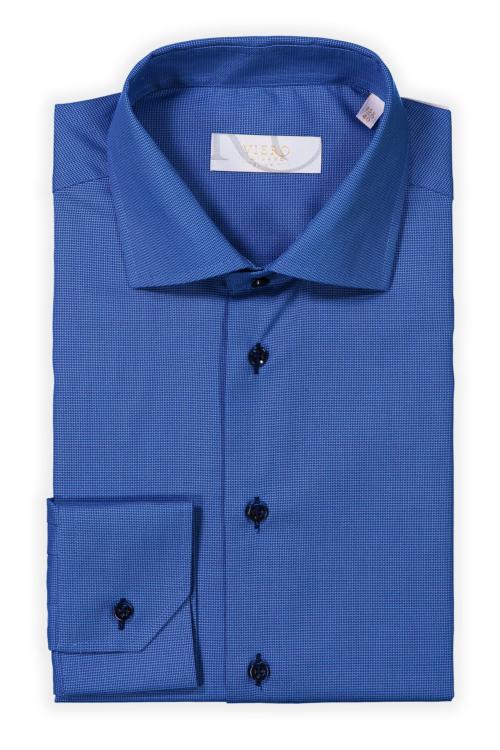 Mellomblå ensfarget skjorte til herre