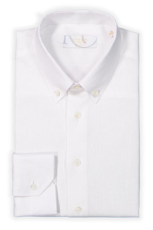 hvit linskjorte til herre