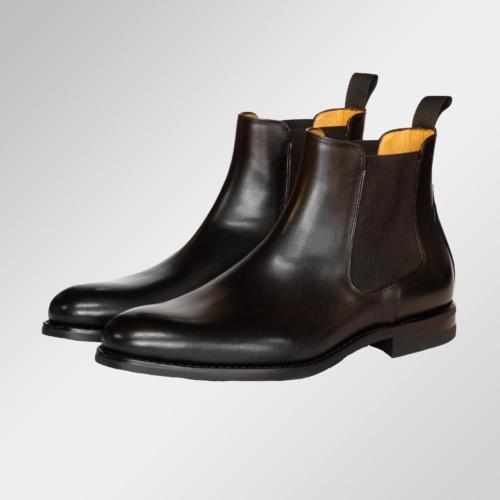 Chelsea boot svart skinn