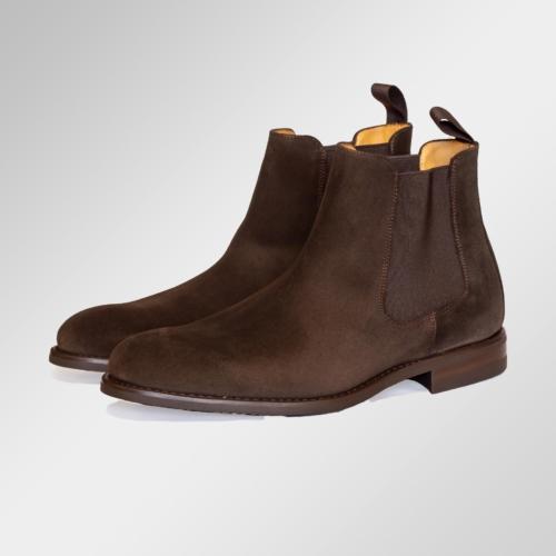 Chelsea boot brun semsket