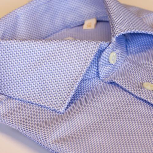 Rutete skjorte i 2 ply bomull fra Viero Milano i slimfit modell.