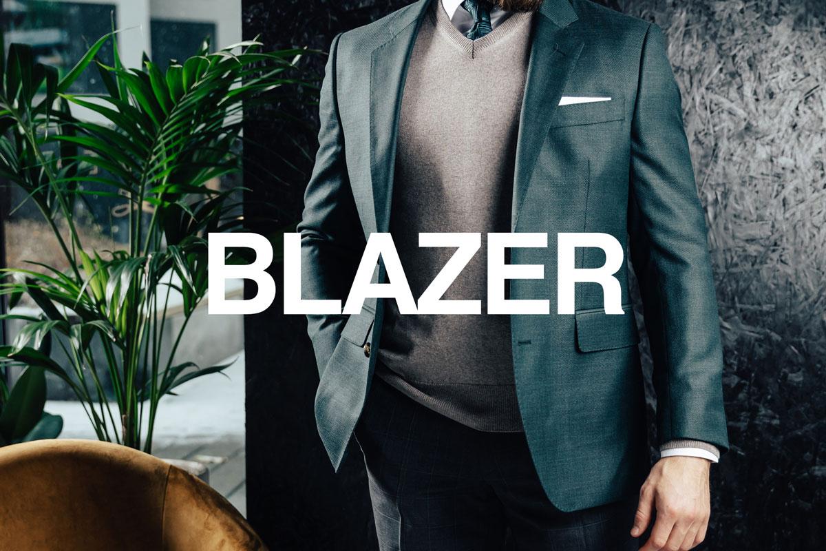 Stort utvalg blazere og jakker i gode kvaliteter fra anerkjente stoffprodusenter.