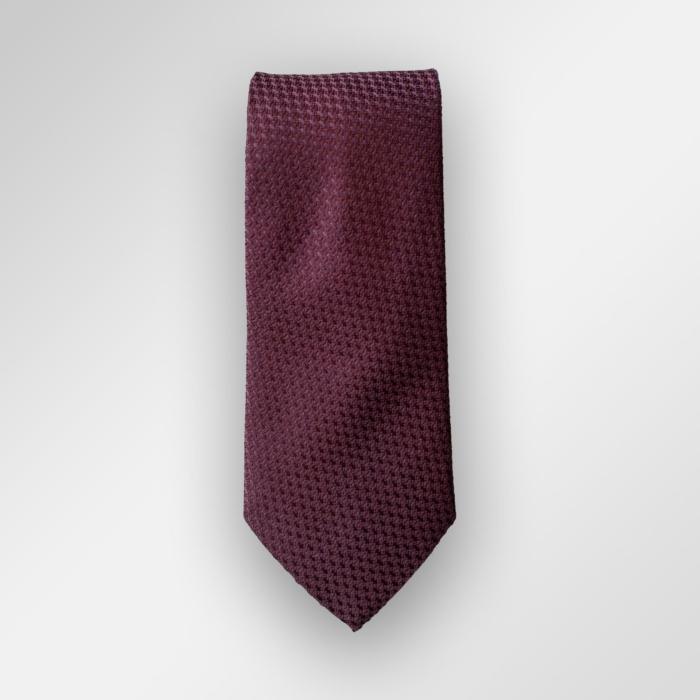 Vinrødt/burgunder slips fra Viero Milano