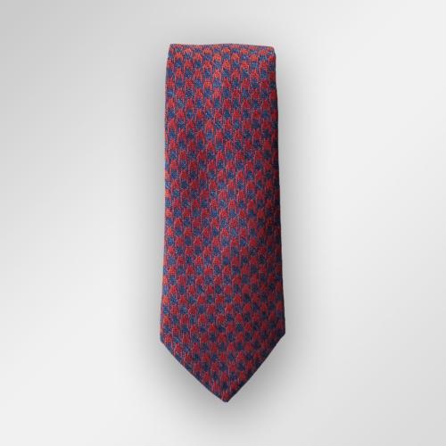 Rødt og blått slips fra Viero Milano.