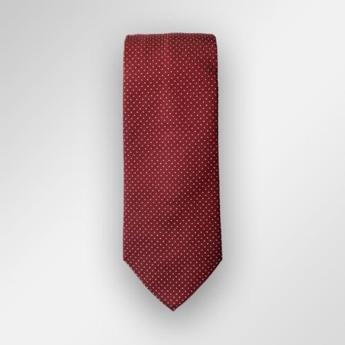 Rødt slips med hvite prikker fra Viero Milano