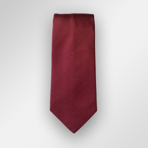 Rødt ensfarget slips fra Viero Milano