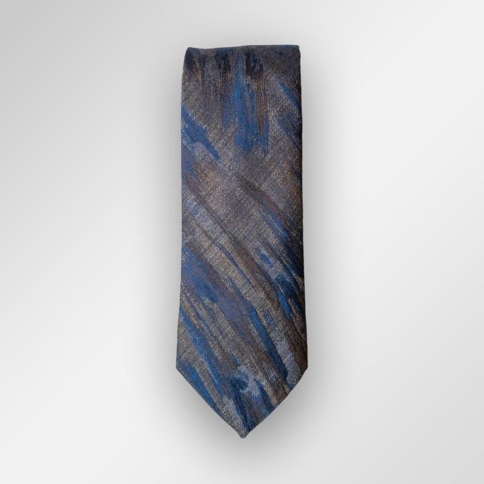 Brunt og blått slips