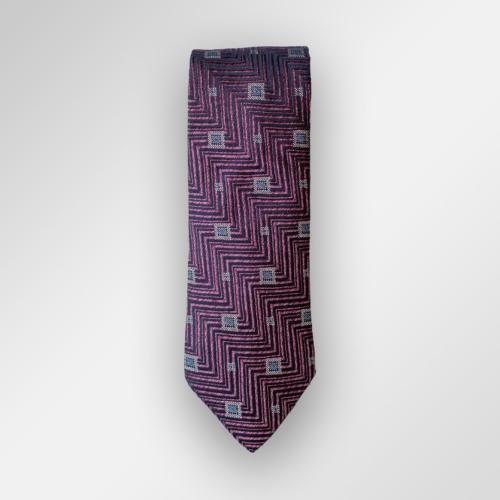 Mørk lilla slips med mønster
