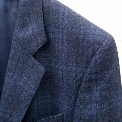 Navy ruter jakke/blazer