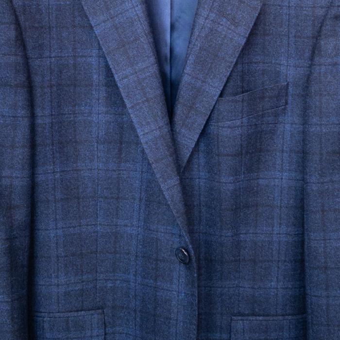 Navy jakke/blazer med ruter