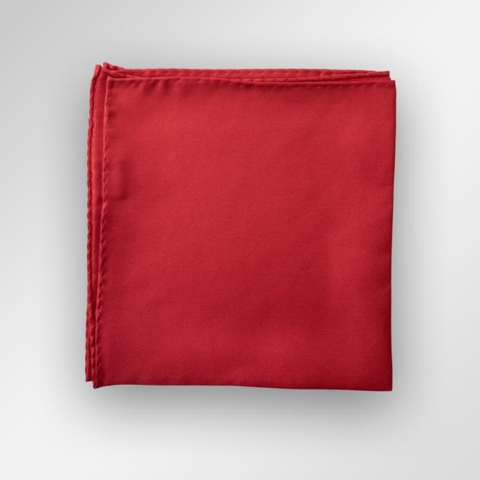 Rødt lommetørkle til dress, smoking og blazer