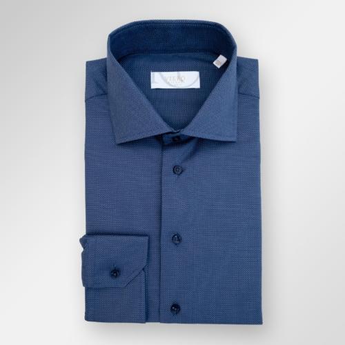Viero Milano skjorte i strykelett bomull. Navy og blå ruter