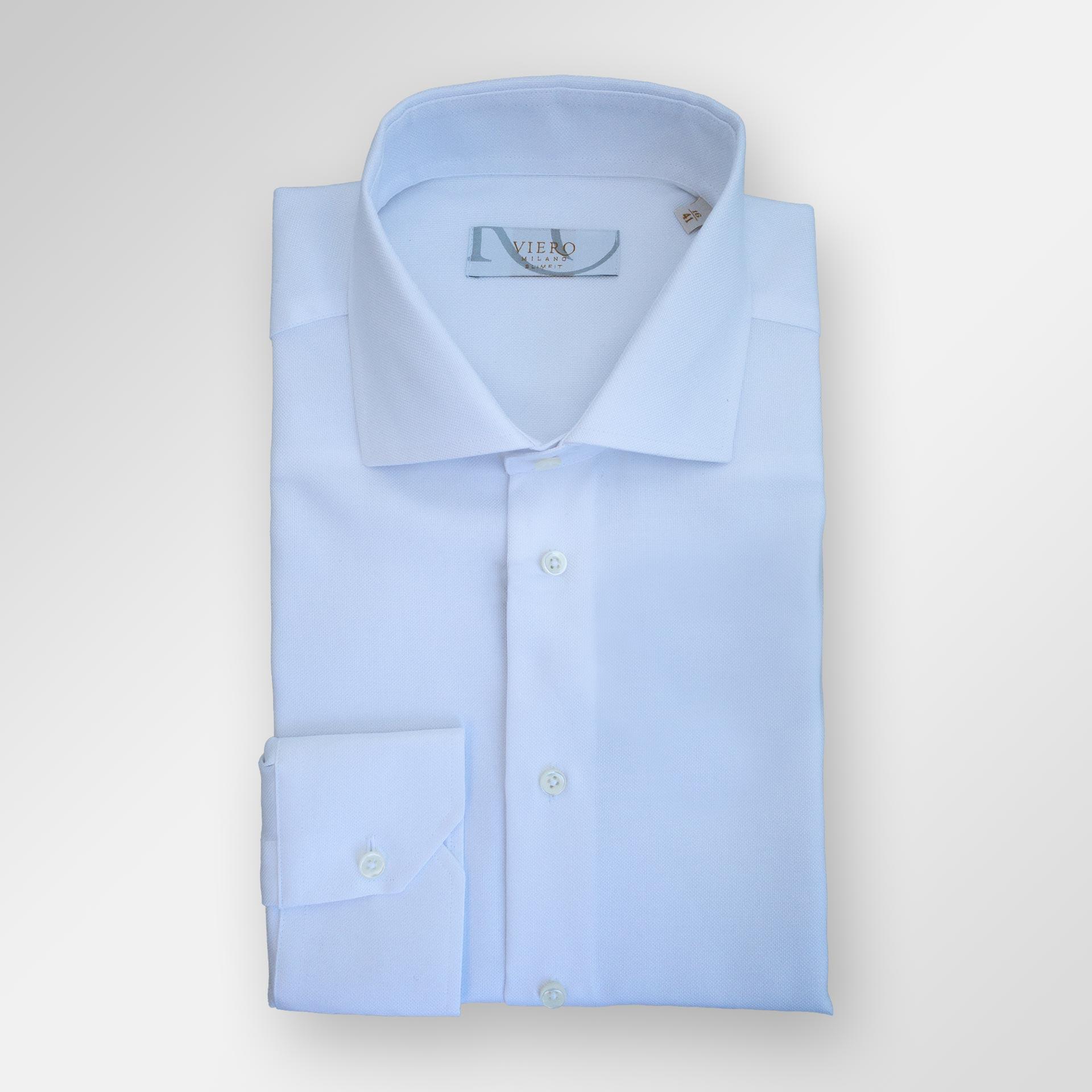 Klassisk dresskjorte i 2 ply bomull fra Viero Milano i