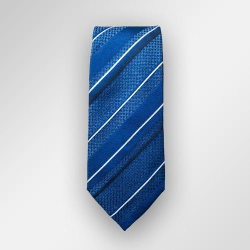 Blått slips med striper