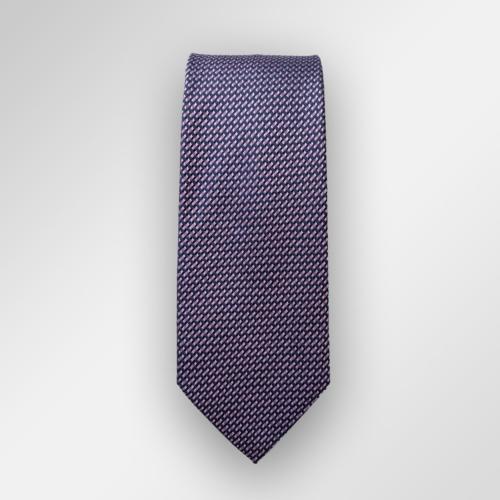 Blått slips med rosa mikromønster