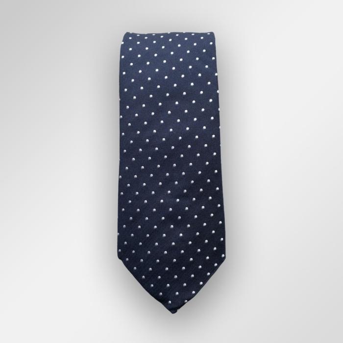 Navy slips med hvite prikker. Perfekt til 17 mai og bryllup