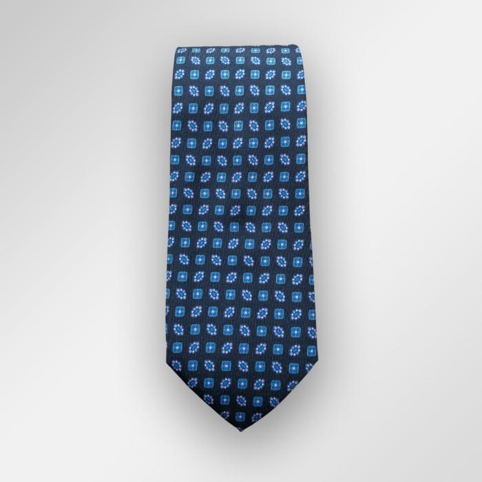 Navy slips med mønster. Printet