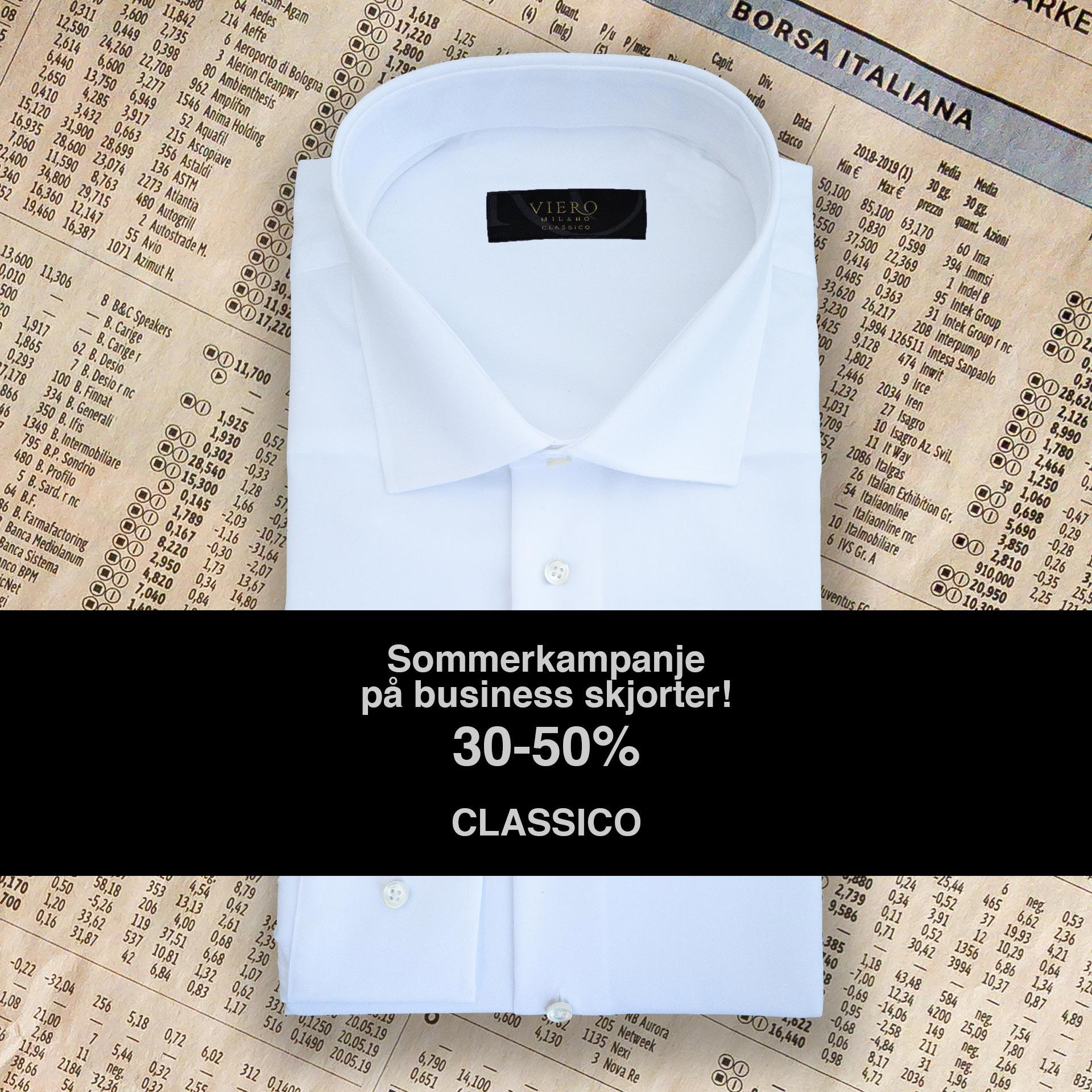 Sommerkampanje på classico skjorter!