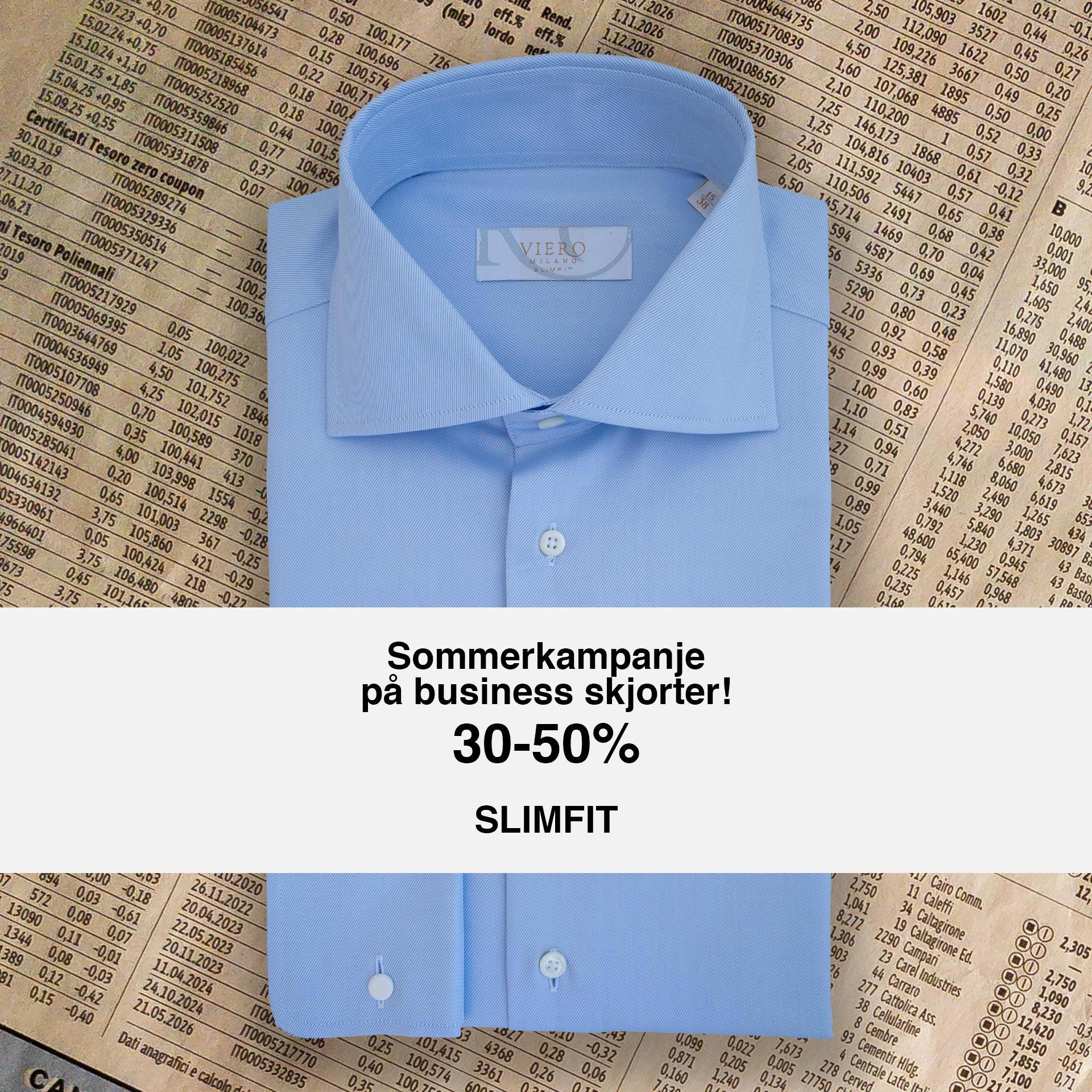 Sommerkampanje på slimfit skjorter!