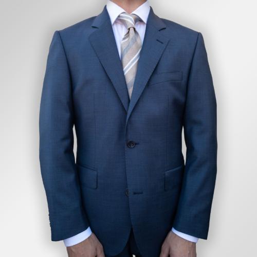 Viero Milano dress, blå ensfarget melert