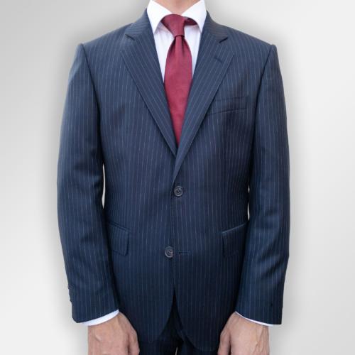 Navy pinstripe dress fra Menswear Hegdehaugsveien