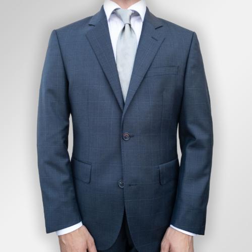 Mørkeblå dress med ruter fra Menswear Lysaker
