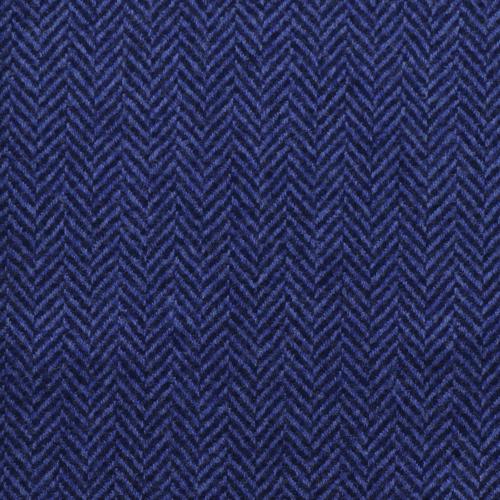 Blå blazer med fiskebensmønser