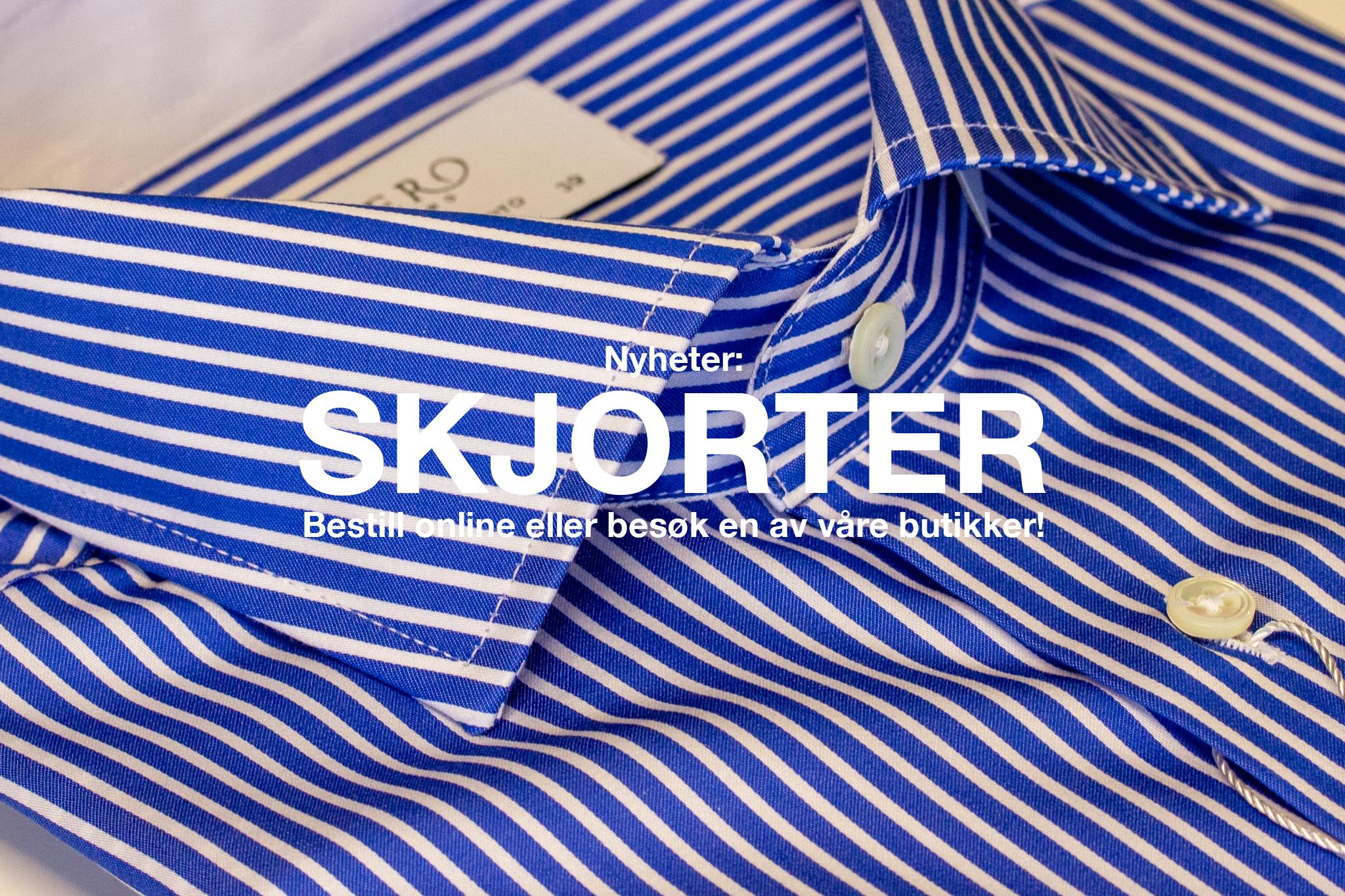 Nye skjorter hos Menswear i Oslo.