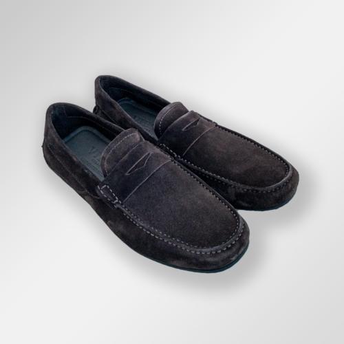 Mørke brune loafers